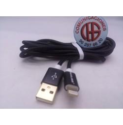 2m VOXLINK Cable USB iPhone 5 6S iPad Carga Rapida Datos Vista Frontal