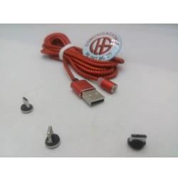 2m Cable Micro USB Tipo C iPhone Magnético Carga Rápida Vista Completa