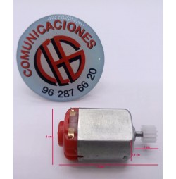 Micro Motor Electrico 3V-6V 130 16.500 rpm Vista Horizontal