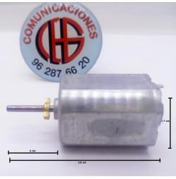 266 Micro Motor DC Electrico 3V-6V 900 a 1700rpm Vista Horizontal
