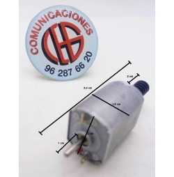 Micro Motor Electrico DC Eje Negro 3V-6V 900 a 1700rpm Vista Lateral