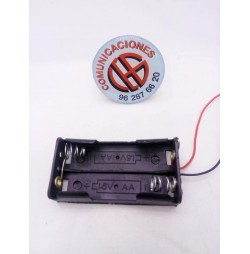 Porta pilas de 2 unidades AA 1.5V Vista General