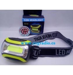Linterna Cabeza LED COB 250 Lm AAA 3 modos Vista General
