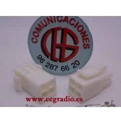 Kit Conector Plastico 4-6 Pins Macho Hembra 8-12 Terminales Vista Complta