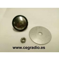 Tapón Cromo para agujeros de antena 2,5 cm vista piezas por detras