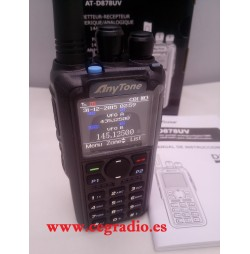 ANYTONE AT-D878UV WALKIE TRANSCEPTOR DMR BIBANDA VHF UHF 144-430 MHZ Vista Frontal