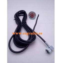 4m Cable RG58 Conector CN Vista Completa