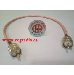 50Cm Cable Baja Perdida RG-142 Latiguillo PL259 UHF Macho a Macho Vista General