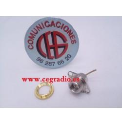 Conector SMA Macho Tuerca Chasis Toma de Antena Walkie Kenwood Anytone Baofeng Vista Separada
