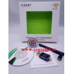 EDUP Adaptador USB WiFi 2.4 Ghz 5 Ghz 802.11ac 600 mbps Antena 2dbi Vista General