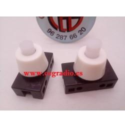 Interruptor Pulsador Tipo Boton Unipolar Lampara ON-OFF 2A-250V Vista Superior