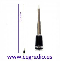 D-Original DX-NR-770H Antena Movil VHF UHF Vista Vertical