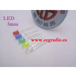 Diodo Led 3 mm blanca