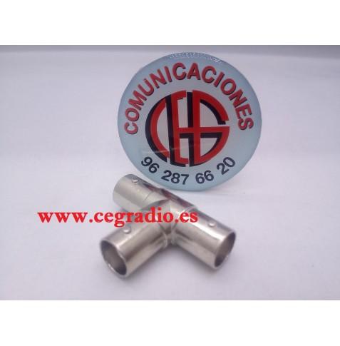 Conector Coaxial Divisor Triple hembra BNC Vista General