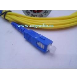 Cable Fibra Optica SC/APC a SC/APC Monomodo FTTH 9/125 Movistar Jazztel Vodafone Orange Amena Masmovil Yoigo Vista General