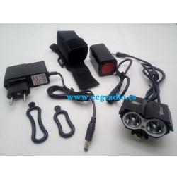 Linterna LED Bicileta CREE XM-LT6 2000 Lm Vista Completa