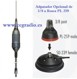 SIRIO PERFORMER 5000 3/8 Antena CB 27Mhz 5/8 5000W 200CH Vista Accesorios