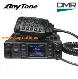 ANYTONE AT-D578UV PRO Emisora Movil Digital Analogico Bibanda DMR VHF UHF Vista General