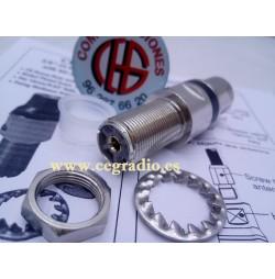 SIRIO CB-HDS 3/8-24 ADAPTADOR 3/8 A PL Hembra SO239 Vista Lateral PL