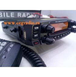 Anytone AT-5888-UV Emisora BIBANDA VHF UHF Vista Lateral Izquierda