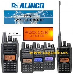 Alinco DJ-VX50 Walkie Doble Banda VHF UHF 144Mhz 430Mhz Vista Multiple