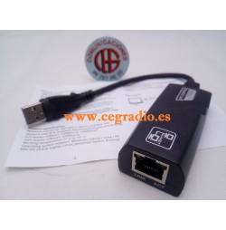 Cable Adaptador USB 3.0 a Red RJ45 Gigabit Ethernet LAN 10-100-1000 Mbps Vista General