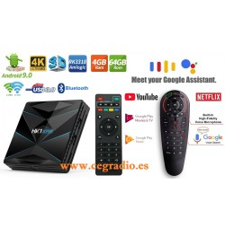 HK1 Super Smart TV BOX Android 9.0 4K TV 4GB DDR4 64GB RK3318 2.4G-5Ghz Wifi Vista General