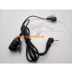 Micro Auricular Jetfon JR1808 Tubular Motorola 1 Pin Vista General