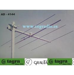 TAGRA GRAUTA AD-4144 Antena Directiva Yagi 4 Elementos VHF 144Mhz Vista Montada
