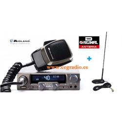 Midland M20 Emisora CB 27Mhz USB + Antena Tornado MAG CB Vista Pack