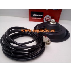Telecom MT-1305 BASE Magnetica 15cm TIPO PL 4m Cable Vista General
