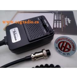 Telecom EMD-1000 Microfono Eco Regulable Capsula Micro Dinamico Vista Completa
