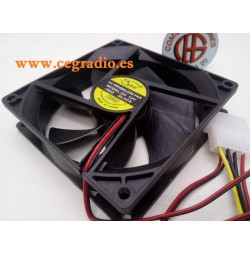 Ventilador Silencioso Negro 90x90x25mm 12V 4pin para PC CPU Amplificador Vista General
