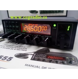 ANYTONE AT-5555 Emisora Transceptor Todo Modo De 10 m Vista Frontal
