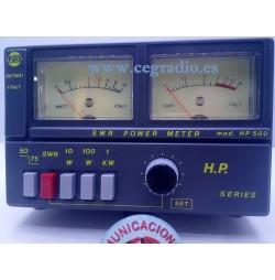 ZETAGI HP500 Medidor ROE Potencia 3-200 MHZ CB HF VHF Vista General