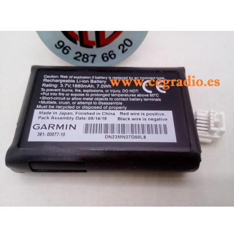 Bateria Garmin Original 010-12110-03 de ion-litio Zumo 590LM 595LMT Vista Frontal