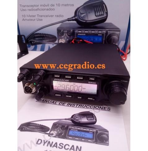 DYNASCAN 10M66 Emisora Transceptor 10m Vista General