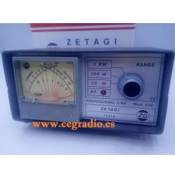 ZETAGI 430 Medidor ROE Watimetro VHF UHF 120-500 MHZ Vista Frontal