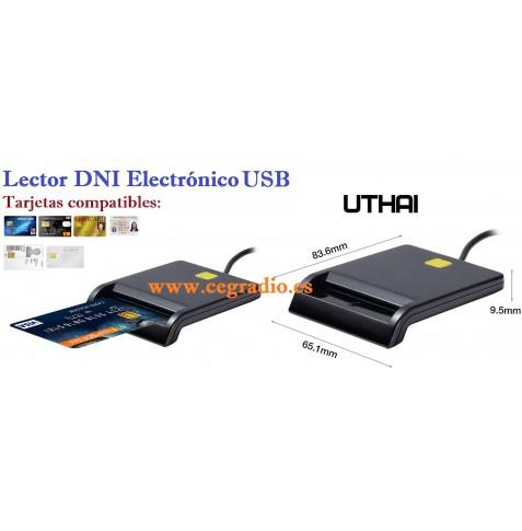 Lector DNI Electrónico USB Tarjeta Bancaria ATM IC ID CAC SIM Vista General