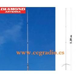 DIAMOND X510MH NEW Antena Base Original Japon Doble Banda VHF UHF Vista General