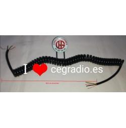 Cable rizo micrófono 5 hilos 62 cm