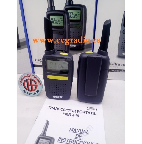 CPS CP-225 Pack Walkie Talkies PMR-446 Bateria LITIO y Cargador