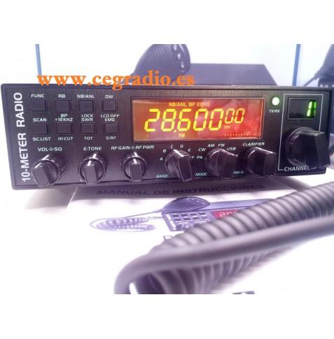 DYNASCAN AT-5555 Emisora Movil Todo Modo De 10 m Vista General