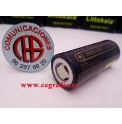LiitoKala Lii-50A 26650 3.7V Bateria Recargable Li-Ion 5000mAh Vista General