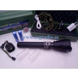 4000 Lúmenes XHP70 Linterna LED Recargable USB 26650 Vista General
