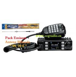 ANYTONE AT-779UV PACK Emisora + Antena Movil doble banda VHF UHF Vista General