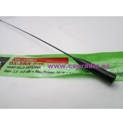 D-Original DX-SRX-536 Antena Doble Banda 144Mhz 430Mhz SMA Macho Vista Lateral