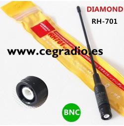Diamond RH701 BNC Antena Walkie Bibanda VHF UHF 144Mhz 430Mhz