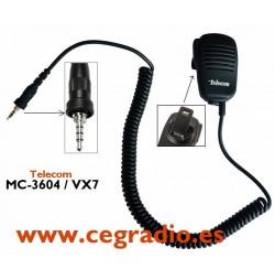 Micro Altavoz Telecom MC-3604 ALINCO YAESU VERTEX VX-6 VX-7 Vista General