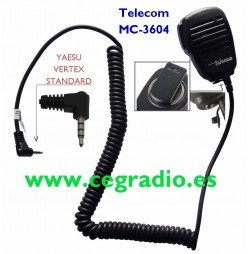 Micro Altavoz Telecom MC-3604 Yaesu Vertex Dynascan